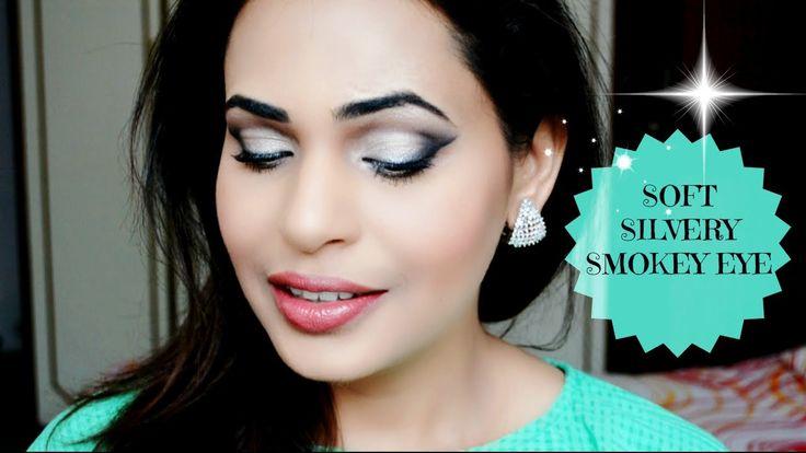 Soft Silvery Eye Makeup | Silver Smokey Eye