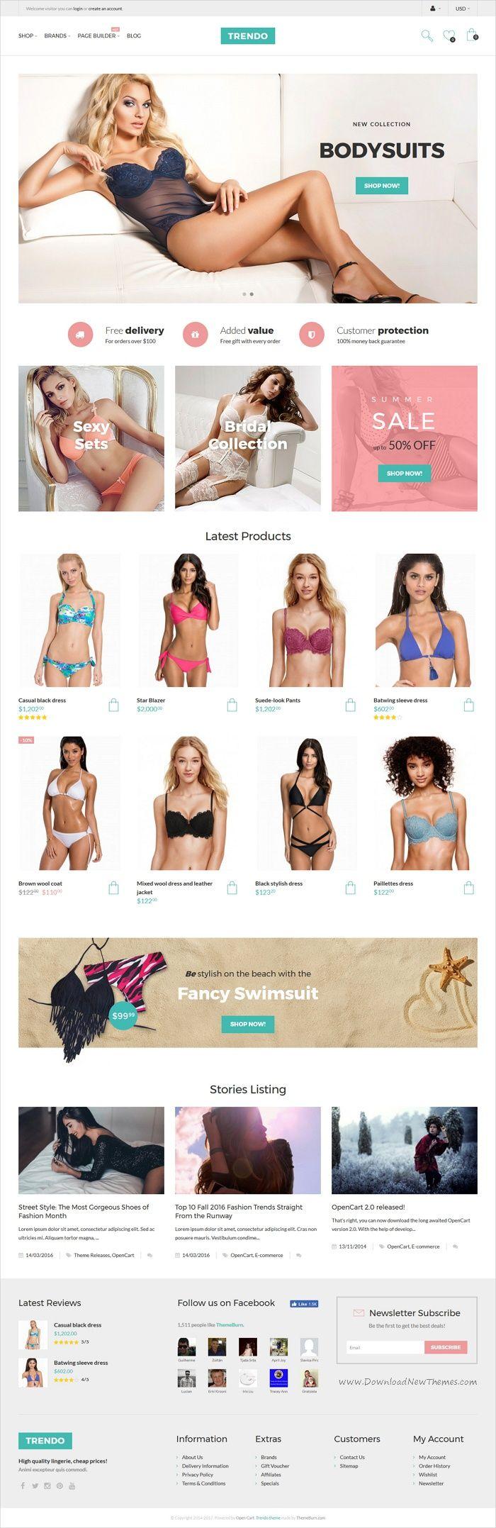 Trendo is a modern design 3in1 minimalist #Opencart theme for #bodysuits #beachwear #lingerie store stunning eCommerce websites download now➩ https://themeforest.net/item/trendo-minimalistic-fashion-store-opencart-theme/18254877?ref=Datasata