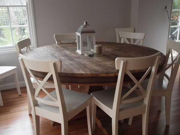 25 best ideas about round kitchen tables on pinterest for Kitchen table sets with bench and chairs