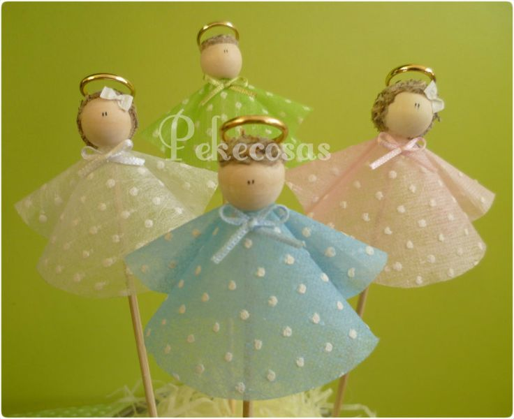 angelitos Encintados Angelitos de papel, diseñado para Recuerdos de Baby Shower, Nacimientos comuniones bodas...