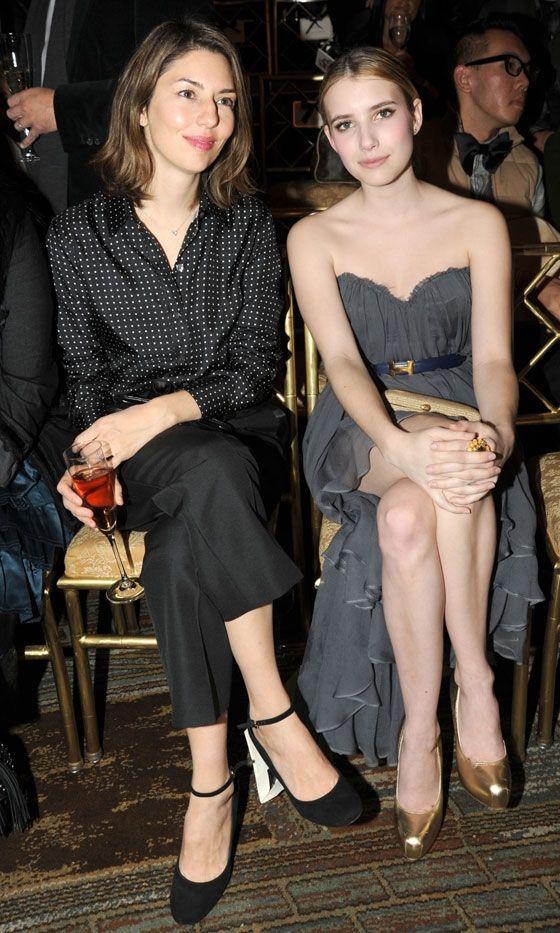 front row. Sofia Coppola and Emma Roberts