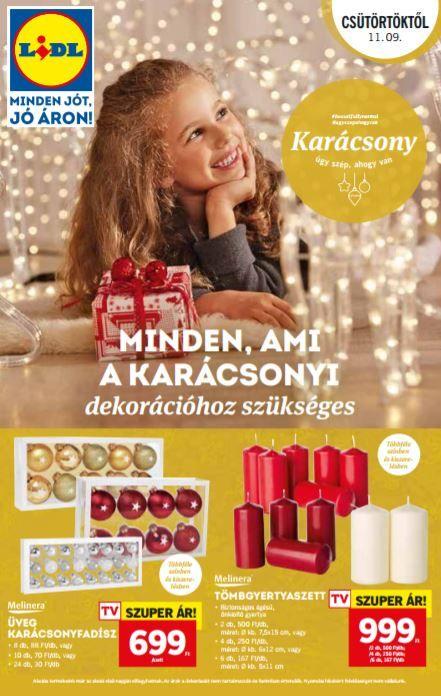 LIDL Karácsonyi Katalógus: Minden ami a karácsonyi dekorációhoz szükséges ebben a 24 oldalas Lidl ünnepi katalógusban megtalálható.