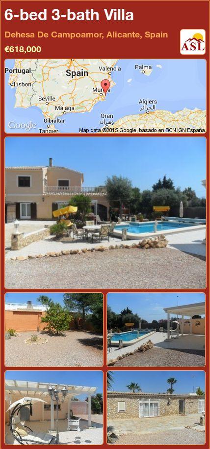6-bed 3-bath Villa in Dehesa De Campoamor, Alicante, Spain ►€618,000 #PropertyForSaleInSpain