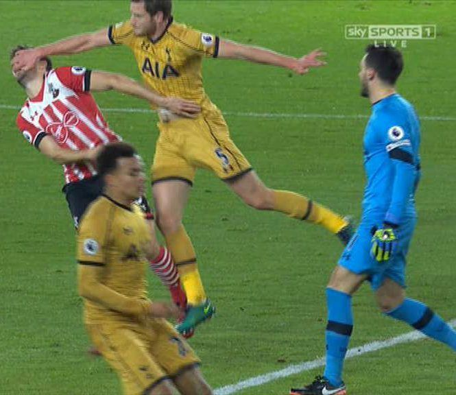 Jan Vertonghen in clear after finger digging incident with Southamptons Jay Rodriguez