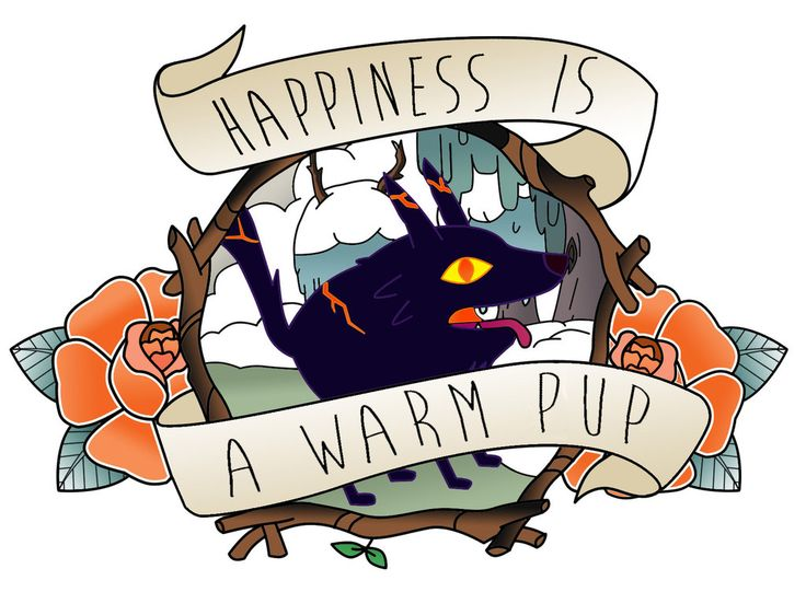 Adventure Time Fire Wolf Quot Thank You Quot Katie G Art