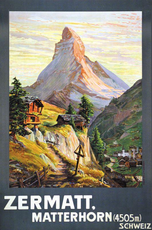 Zermatt. Matterhorn (4505m). Schweiz. François Gos 1904.
