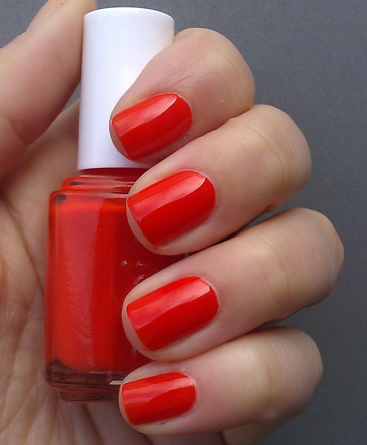 Best 25+ Red Orange Nails Ideas On Pinterest