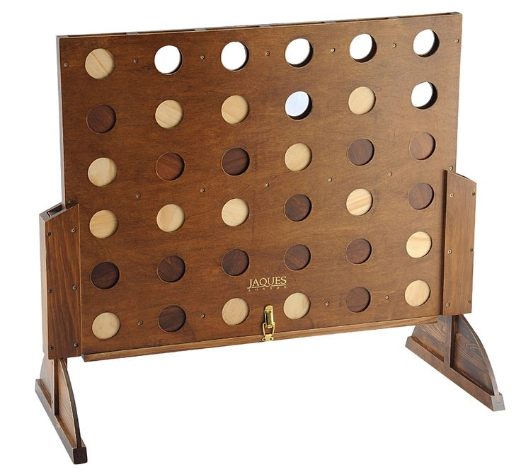 This wooden Score Four is the version of the fantastic two player game of strategy. The master Score 4 has a solid wooden frame and brass fi...