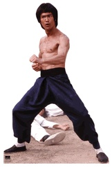 Don't' fight it. Bruce Lee - Fight Stance Cardboard Cutout Life Size Standup