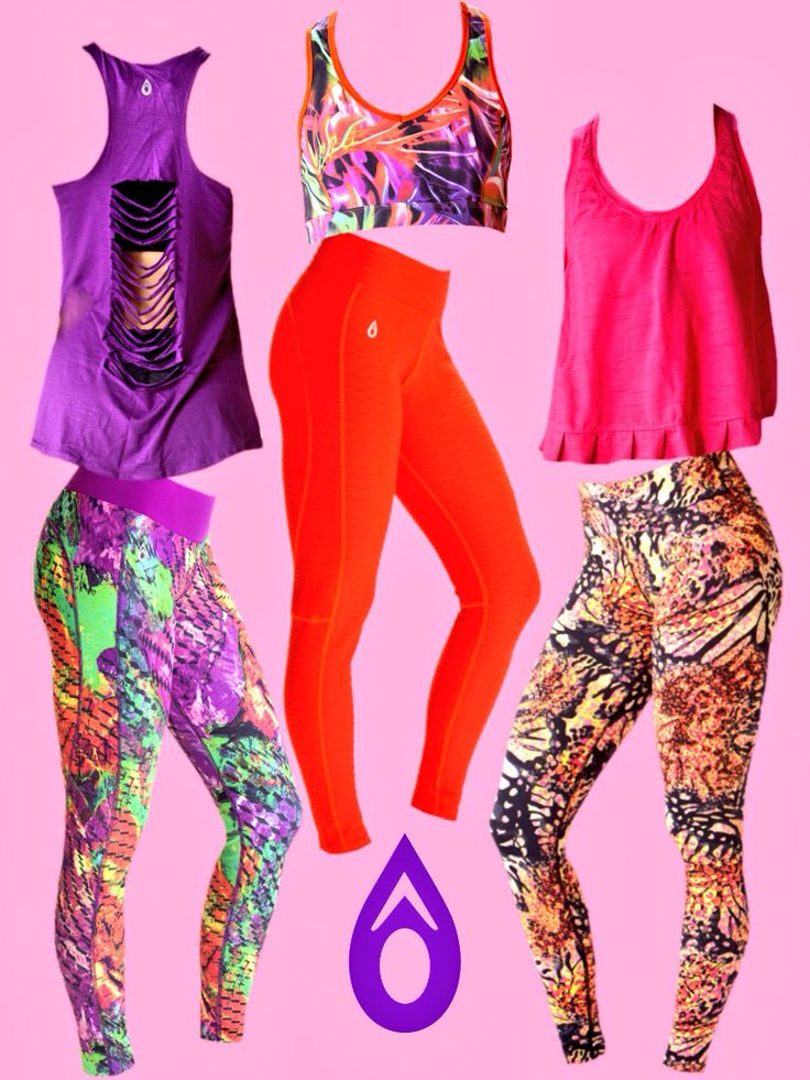 Bright outfits to keep you motivated during your yoga session, run, strength training, Zumba, dance or spinning class!!