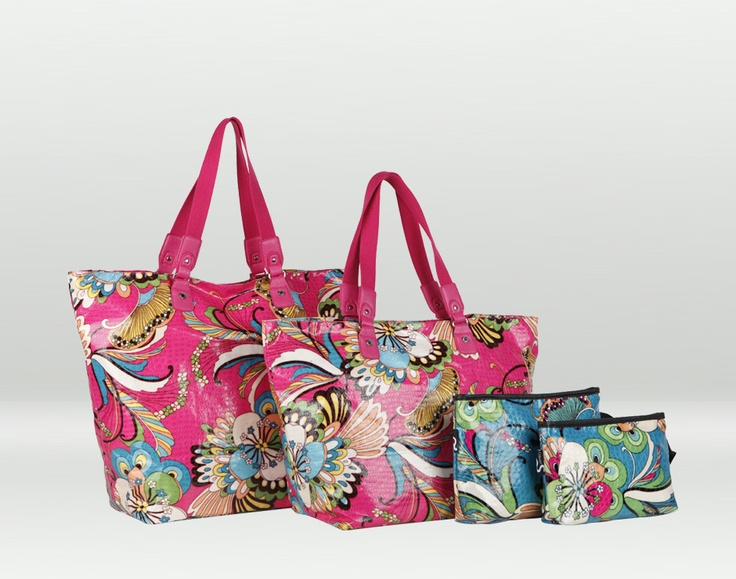 Lanzarote, borsa mare fantasia multicolore