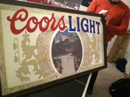 Buying Vintage Signs For The Man Cave Coors Light Mirror