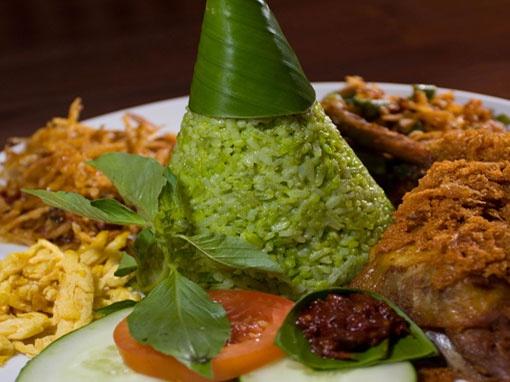 Nasi Hijau (Green Rice)