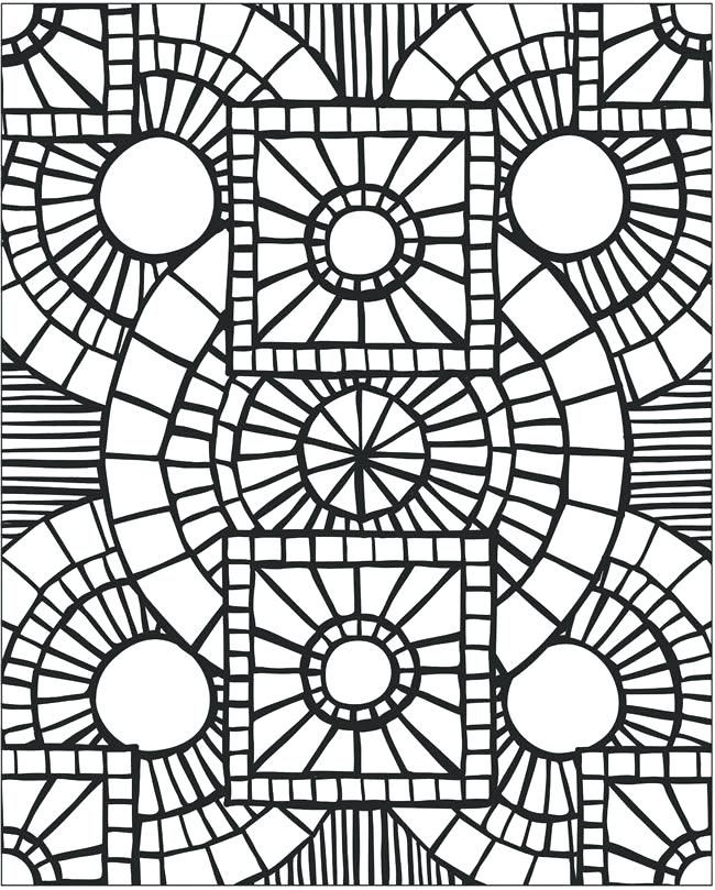 Animal Mosaics Sample 4 Coloring For All Coloring Pages Library Dover Pattern Coloring Pages Free Mosaic Patterns Mosaic Patterns