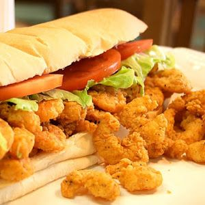 Louisiana Shrimp Po Boy Sandwich and other Po Boy recipes