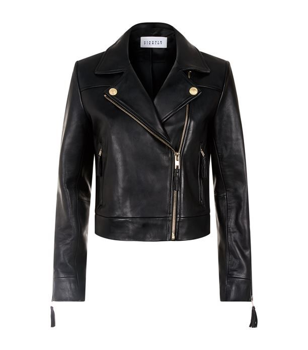 Claudie Pierlot Tassel Trim Leather Jacket Available To Buy At Harrods Shop Clothing Online And Earn Rewards Points Leather Jacket Jackets Mens Jacket Black