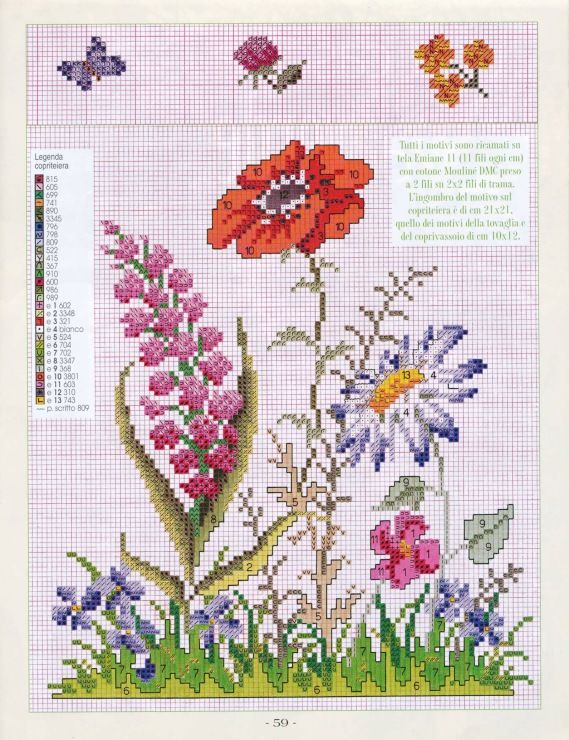cross stitch free pattern - Gallery.ru / Фото #58 - 25 зеленый - Mosca