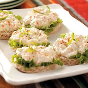 Easy Tea Sandwiches   Crab Salad Tea Sandwiches Recipe   Taste of Home Recipes