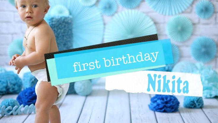 Первый день рождения   Ребенку 1 год   Cake Smash   Nikita