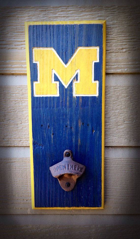 Michigan Wolverines Bottle Opener