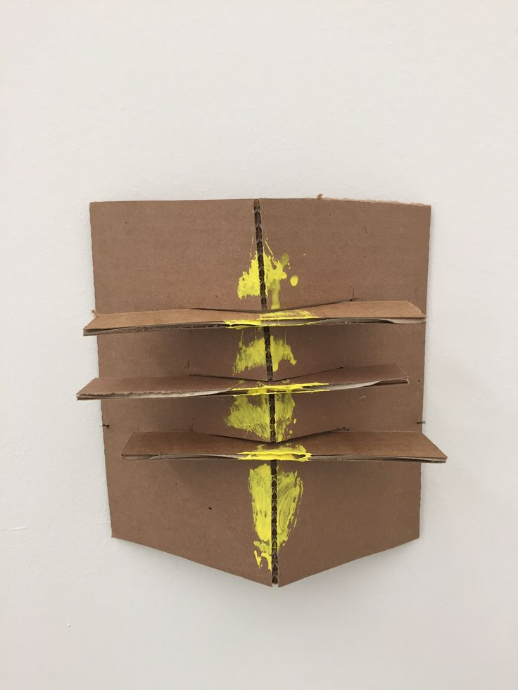 Richard Tuttle Formal Alphabet K other materials, acrylic on corrugated cardboard, steel nails 25.4 × 23.1 cm 2015