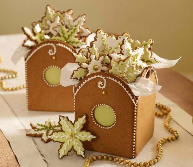 Gingerbread Boxes & Cookies.  Cookie Swap by Julia M. Usher