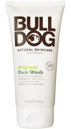 Bulldog Natural Skincare Face Wash. Naturlig hudvård för män. Populär ansiktsrengöring.