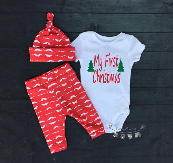 Baby Boy Coming home Outfit SetChristmas by thebabycloset101
