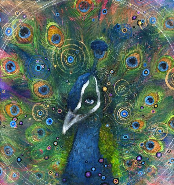 Peacock Art Print  Peacock Artwork  Bird Art  Wall by BlackInkArtz, $12.00