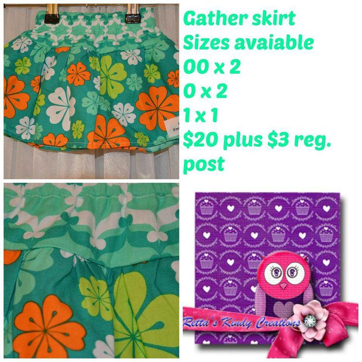 Gather Skirt made and designed by Retta's Kindy Creations 5 available in sizes 00 x2, 0 x2, 1 x1