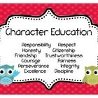 These Character Education posters will be sure to catch any student's attention! They are adorable and will not only add to your classroom decorati...