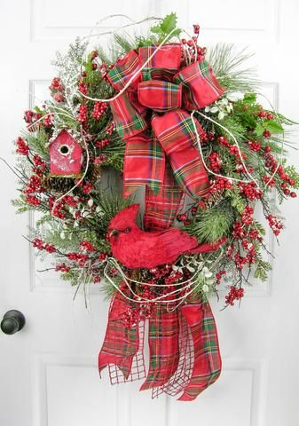 Cardinal Christmas Wreath – MilandDil Designs