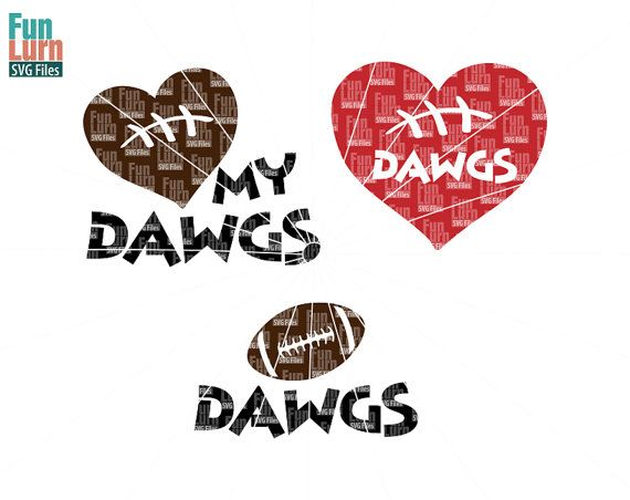Football SVG Football season Dawgs  Football Love my by FunLurnSVG