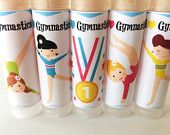 5 pc Gymnastics Party Favors/Gymnastics/Party Favors/Girl Birthday Party/Lip balm/Chapstick Party Favor/Gift Bags