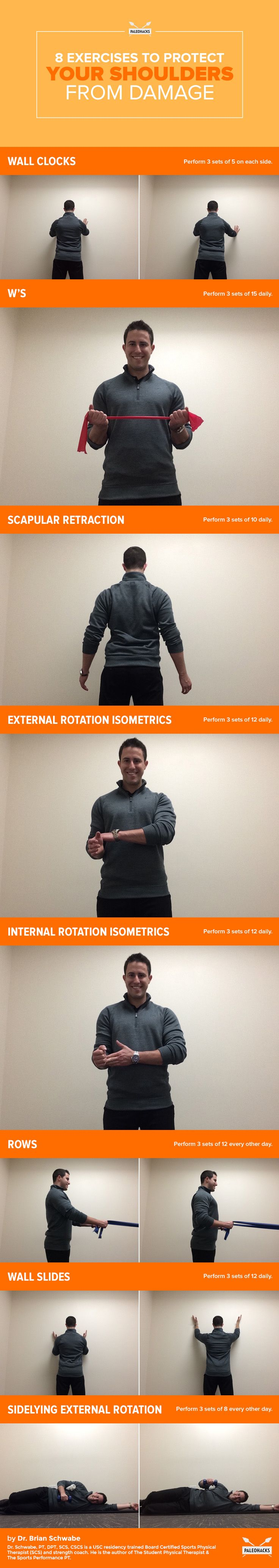 Eliminate pain, increase flexibility and prevent injuries! If you have been ignoring mobility here are eight exercises to protect your shoulders from damage! For the full mobility article visit us here: http://paleo.co/ShoulderDamage  #paleohacks #paleo