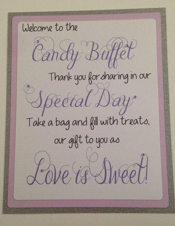 Glitter candy buffet welcome sign! #candybuffet #wedding #candysign