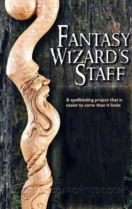 Carving Wizard Staff - Wood Carving Patterns | WoodArchivist.com