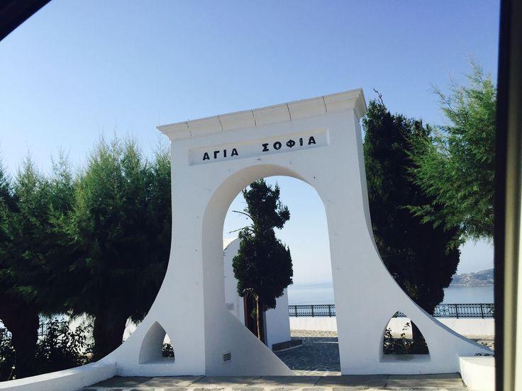 The entrance of Esperos Resorts' private chapel of Agia Sofia!