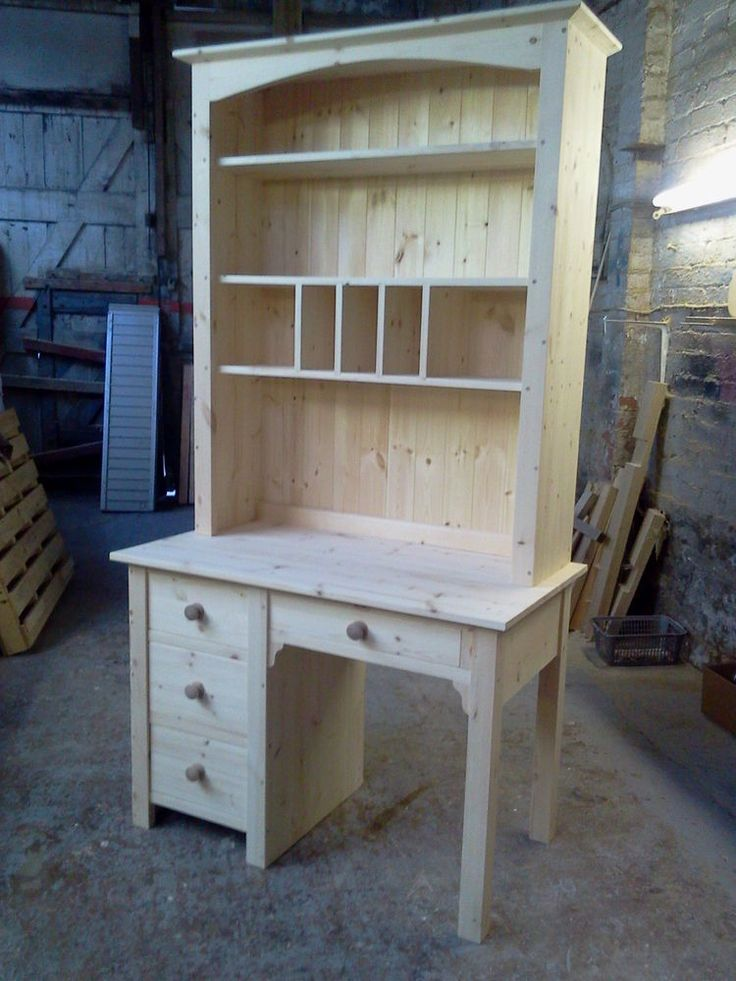 HANDMADE SOLID PINE COMPUTER DESK / VANITY DRESSING TABLE from Furniture made by me ebay shop.
