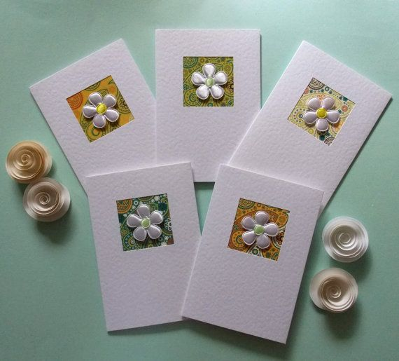 Note cards, stationery set of 5 notelets, thank you cards, pack of cards, hand made greeting cards, notecards, paisley, recycled envelopes