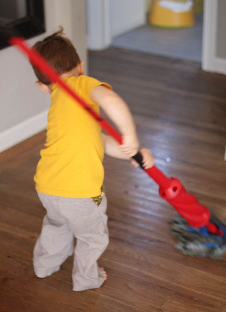 Tips for getting your house clean quickly and effectively with a toddler in tow.