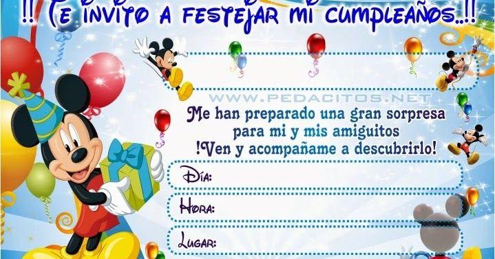 Aprende A Editar La Invitacion Descarga Este Archivo En Corel Draw X4 Editab Invitaciones De Cumpleaños De Mickey Mouse Tarjetas De Mickey Invitaciones Mickey
