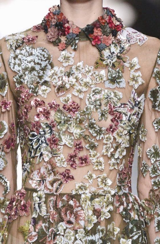 PRINTS, PATTERNS, TRIMMINGS AND SURFACE EFFECTS FROM PARIS FASHION WEEK (A/W 14/15 WOMENSWEAR) / 11 From Paris womenswear catwalks, beautiful details and inspirations. Valentino