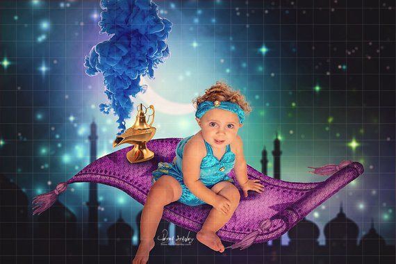 Magic Carpet Flying Carpet Digital Backdrop Princess Jasmine Birthday Banner Aladdin Birthday Party Arabian Knights Digital Background Digital Backdrops Magic Carpet Photoshop Backgrounds