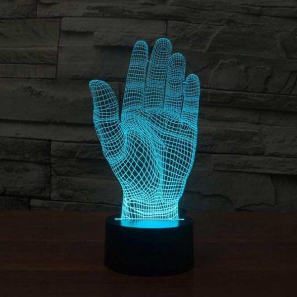 Palm 3d Illusion Lamp 3d Illusion Lamp Touch Lamp 3d Lamp