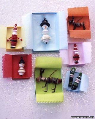 Button Ornaments - made using pipe cleaners - Martha Stewart Holiday Crafts
