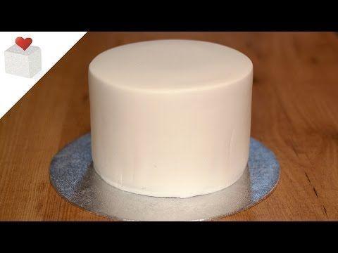 Tarta de fondant - Técnica de Bordes Perfectos | Azúcar con Amor - YouTube