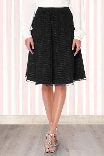 Fever - 50s Bella Ballet Skirt in Black