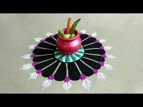Small sankrant special rangoli - YouTube