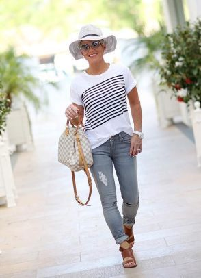 47 Stylish Casual Chic Outfit for Women Over 40